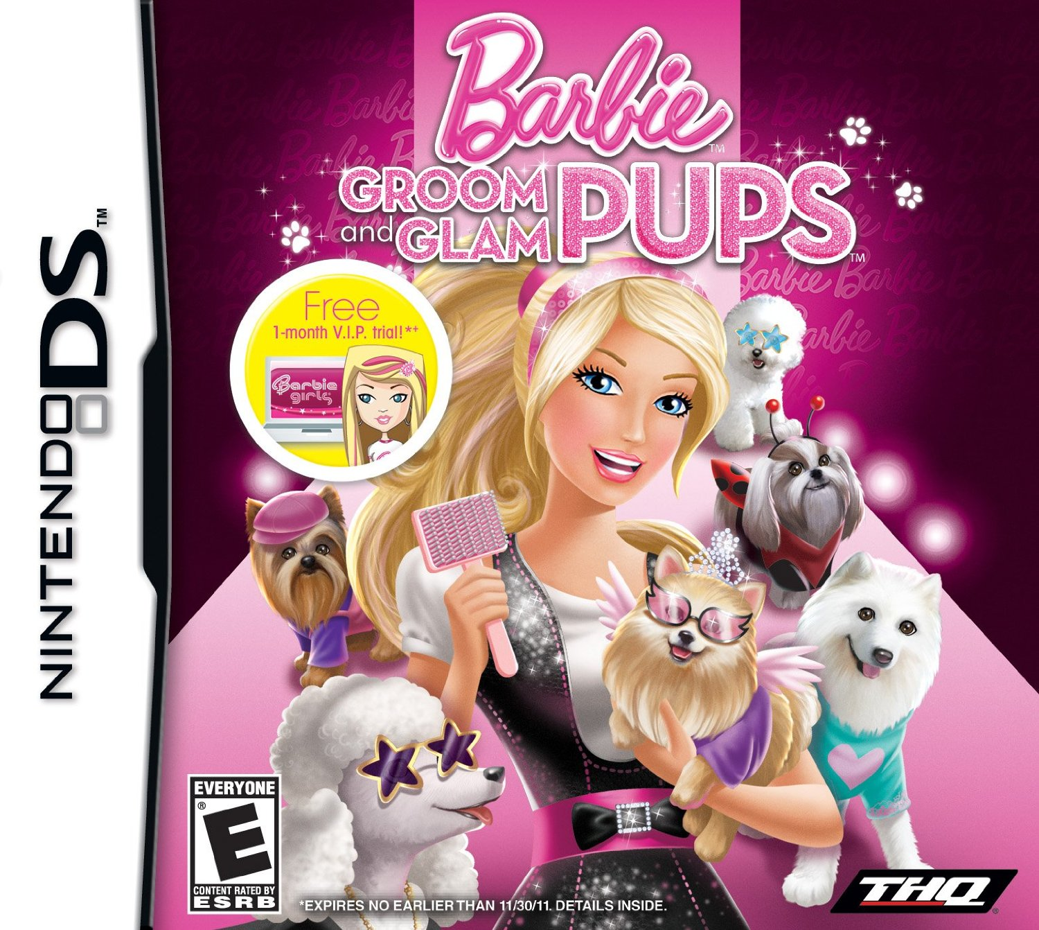 barbie groom and glam pups ds game. Black Bedroom Furniture Sets. Home Design Ideas