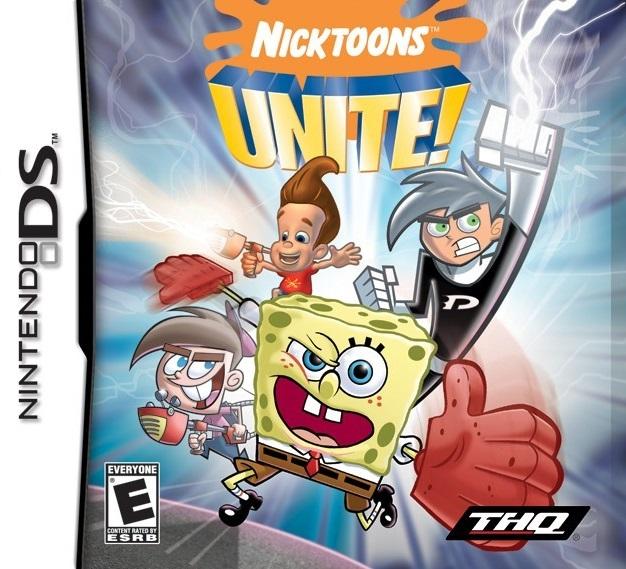Nicktoons Unite! (2006) Nintendo DS box cover art - MobyGames