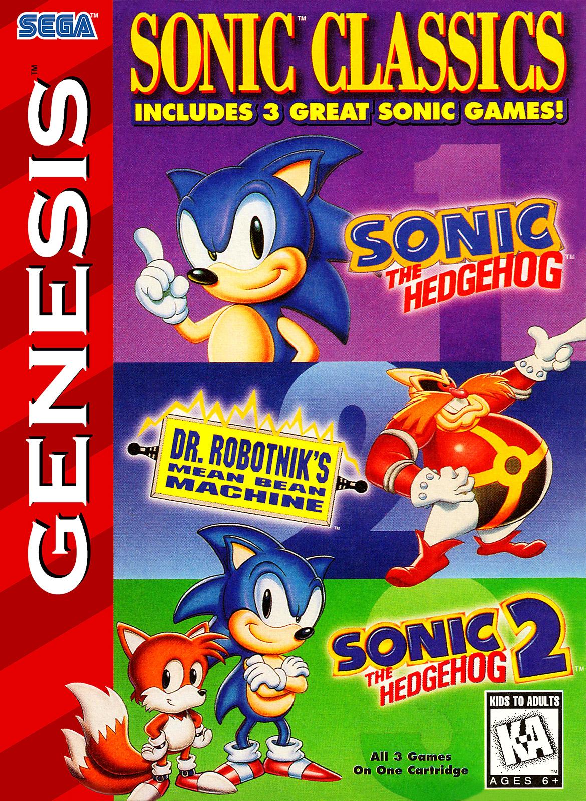 Sonic Classics 3 In 1 Sega Genesis