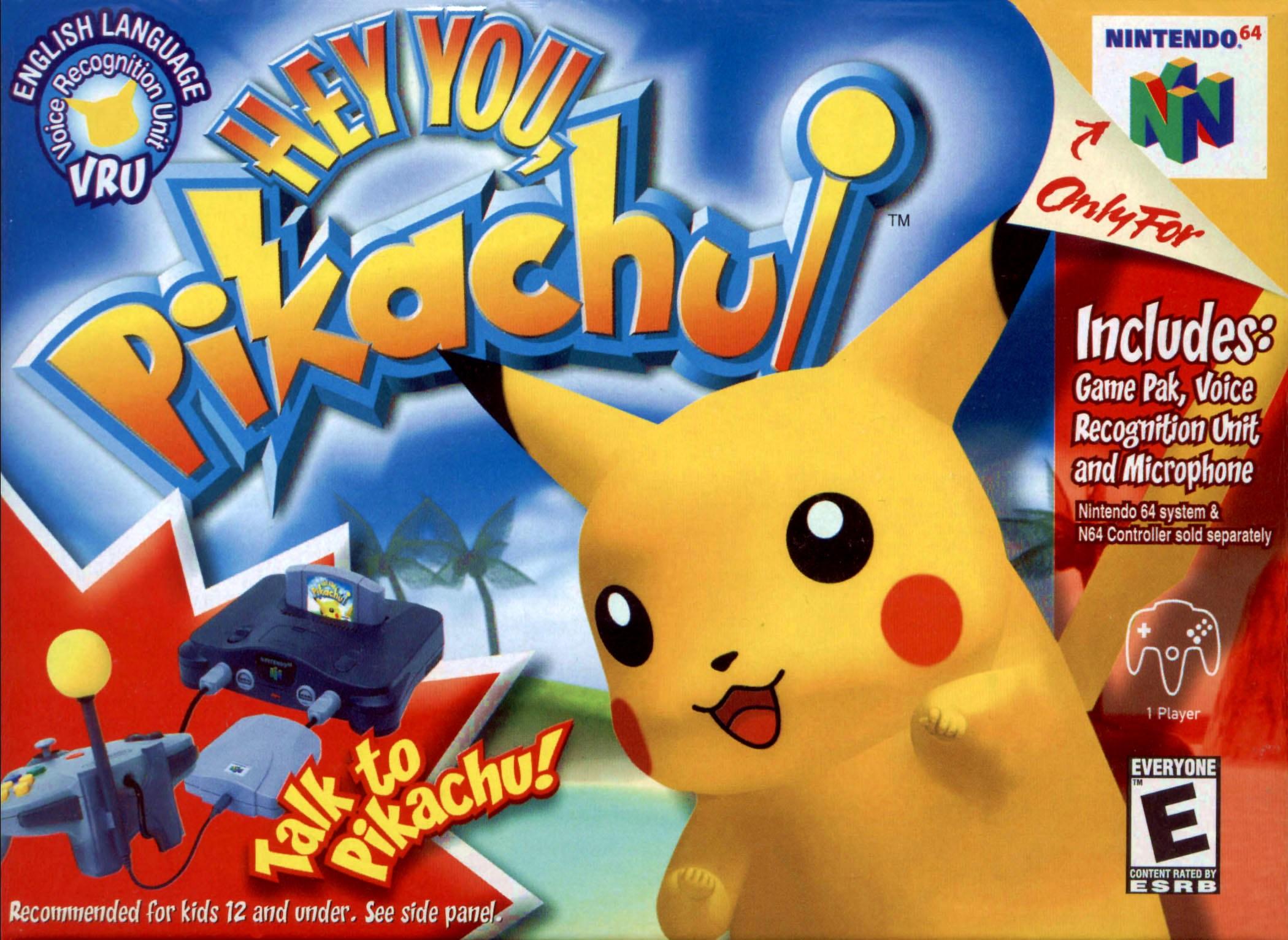 Hey You Pikachu Vru Nintendo 64 Game