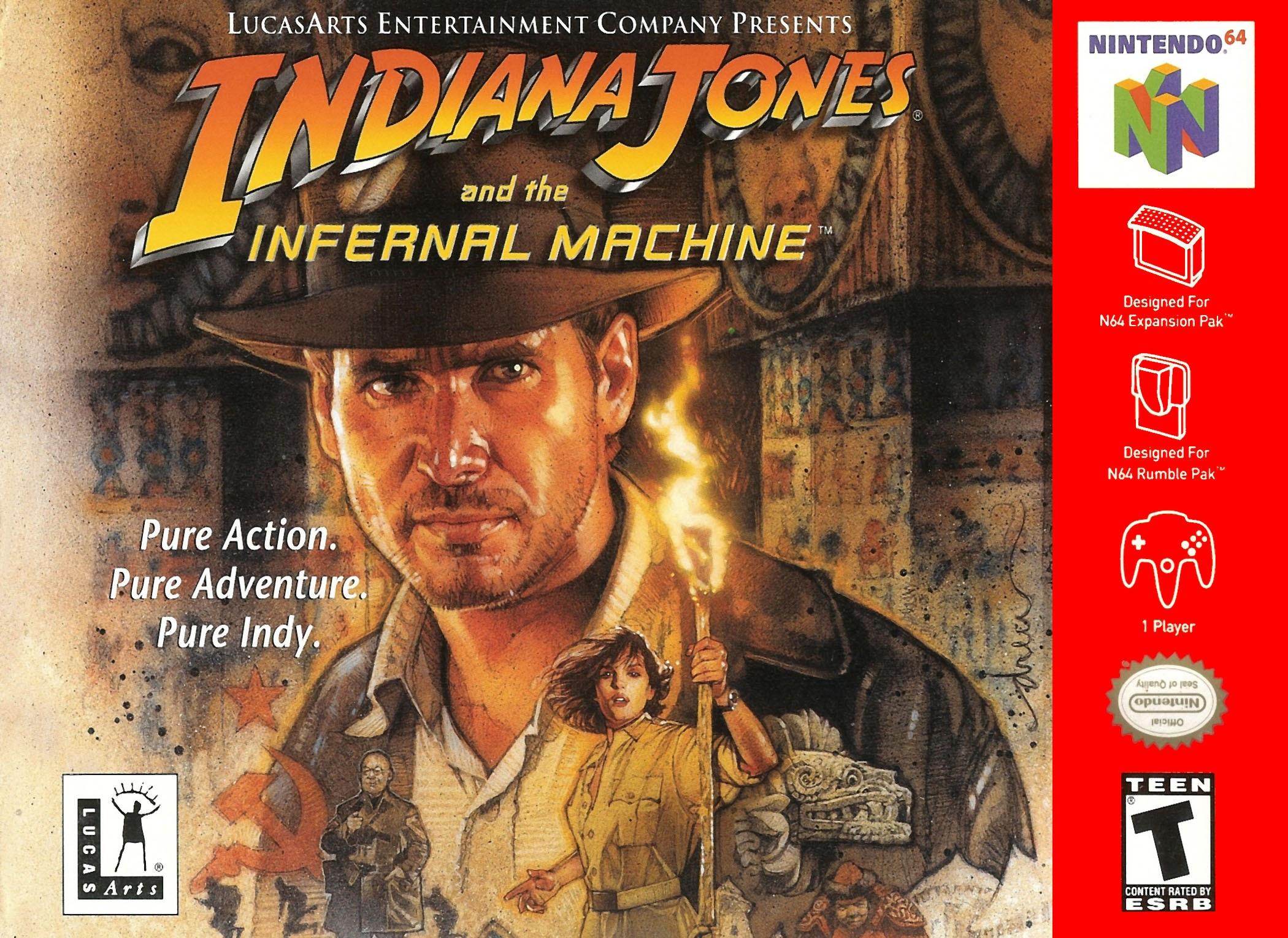 Indiana Jones And The Infernal Machine Nintendo 64 Game
