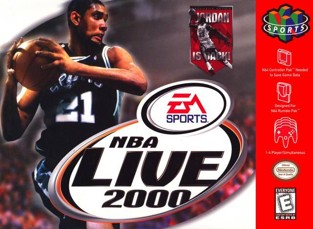 NBA Live 2000 Nintendo 64 Game