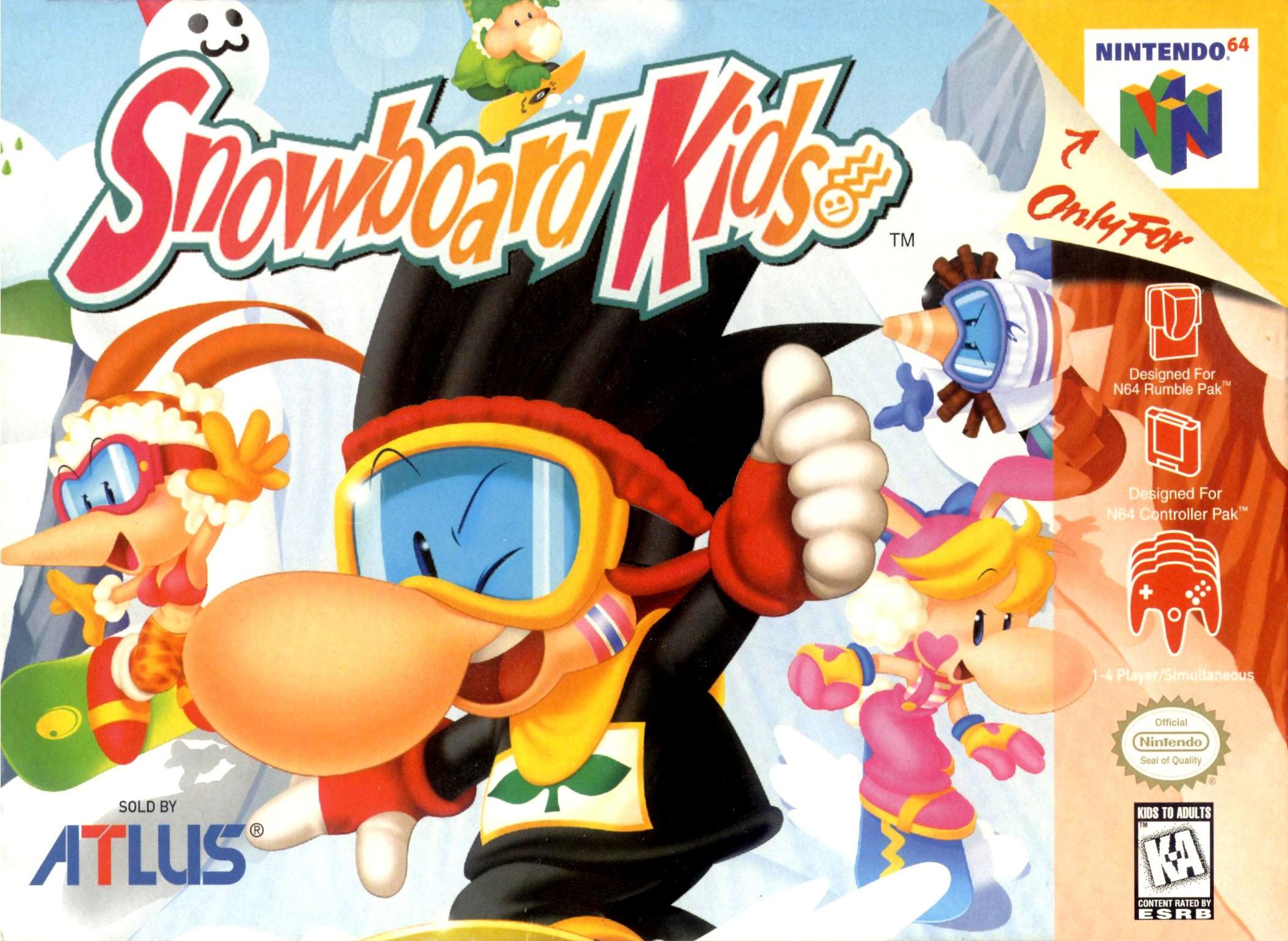 Snowboard Kids Nintendo 64 N64 Game
