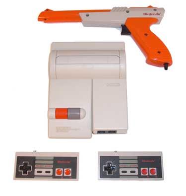 Original Nintendo Nes Top Loader System With Light Gun