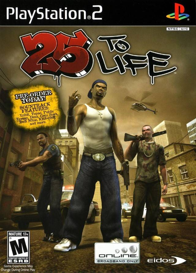 25 To Life Sony Playstation 2 Game