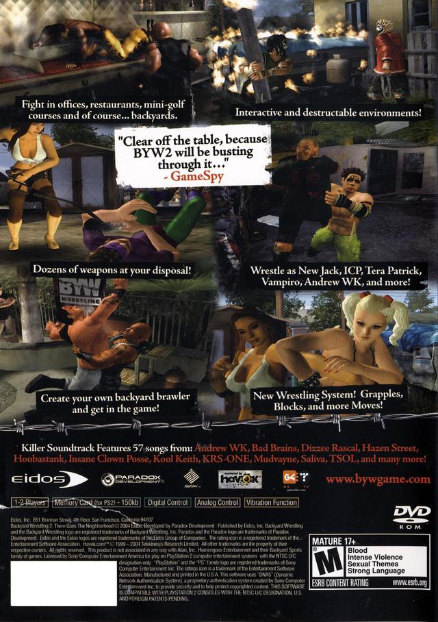 backyard wrestling ps2 game 2017 2018 best cars reviews