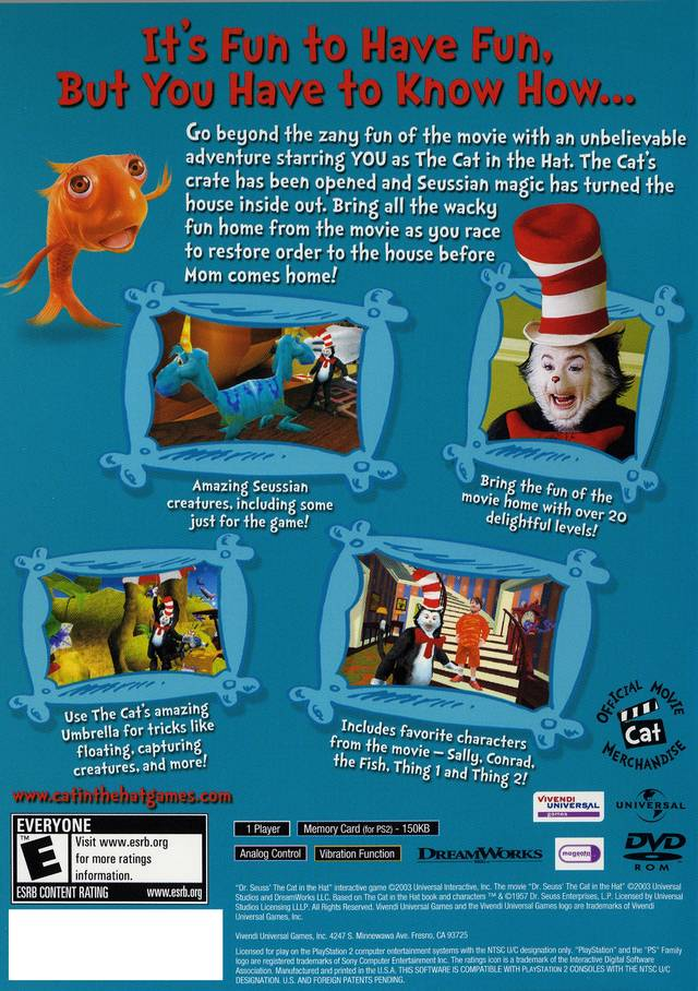 Cat in the hat movie game