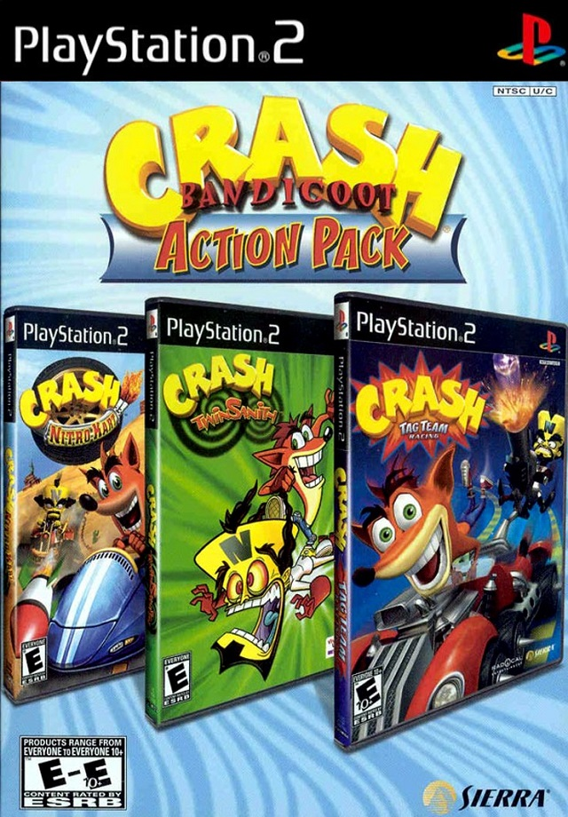 Crash Bandicoot Action Pack Sony Playstation 2 Game
