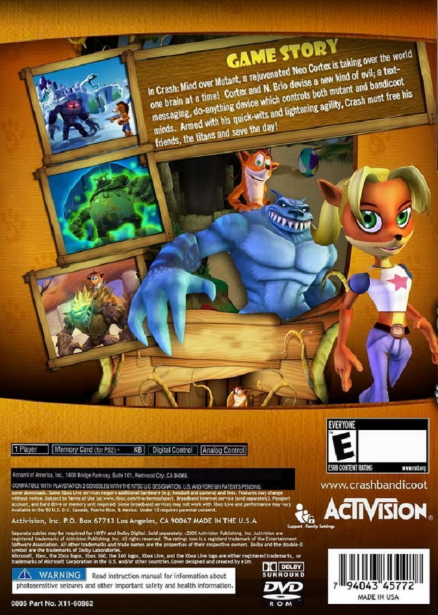 Mind Over Malls Or Does Academia Hate Fashion: Crash: Mind Over Mutant Sony Playstation 2 Game