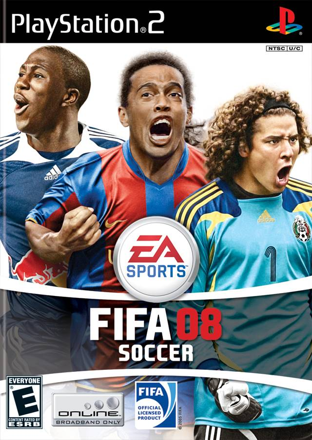 FIFA 2008 Sony Playstation 2 Game.