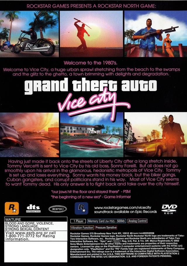 Pics For > Gta Vice City Ps2