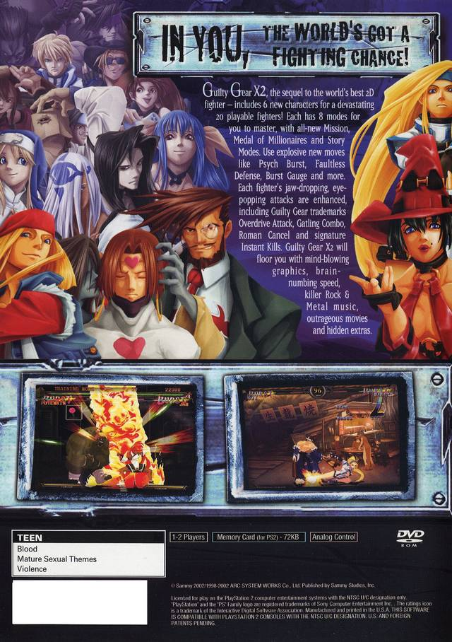Guilty Gear X2 for PlayStation 2 - GameFAQs