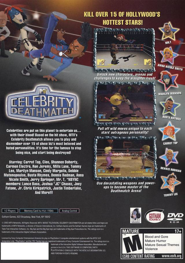 MTV's Celebrity Deathmatch for PlayStation 2 - GameFAQs