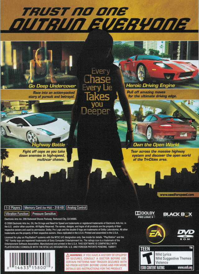 need for speed undercover sony playstation 2 game. Black Bedroom Furniture Sets. Home Design Ideas