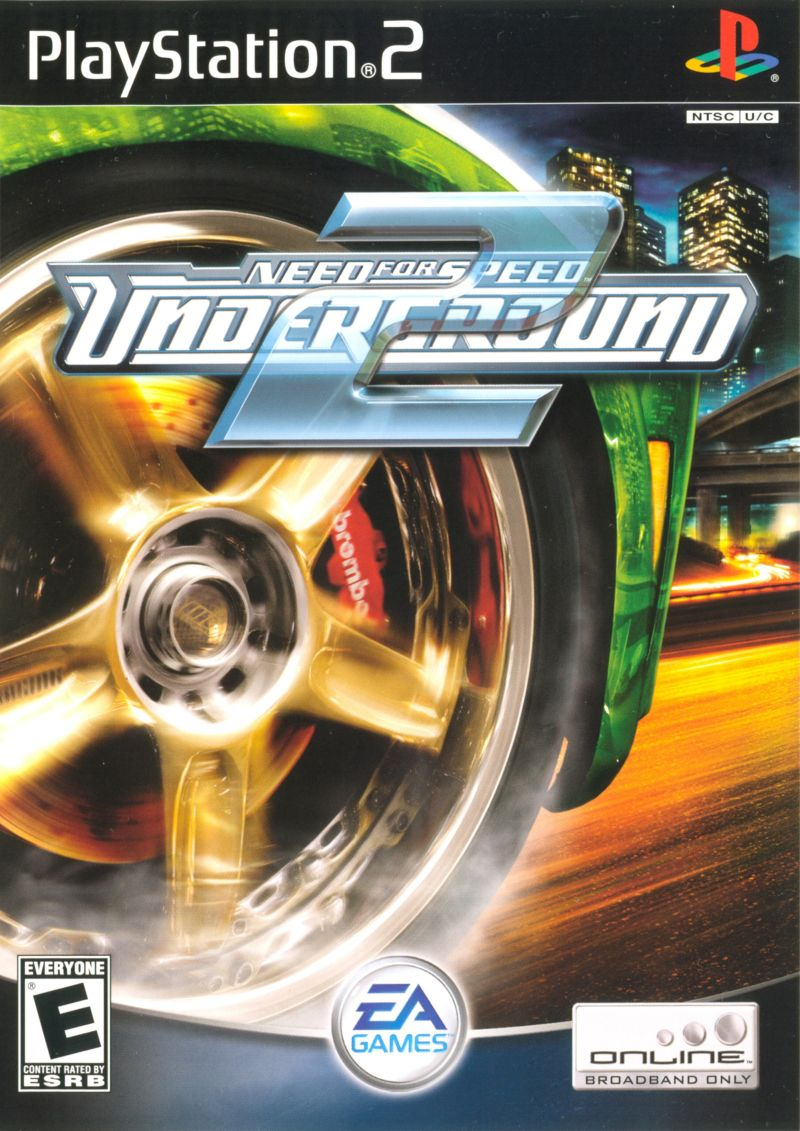 Need for Speed Underground 2 Sony Playstation 2 Game Ps2 Need For Speed