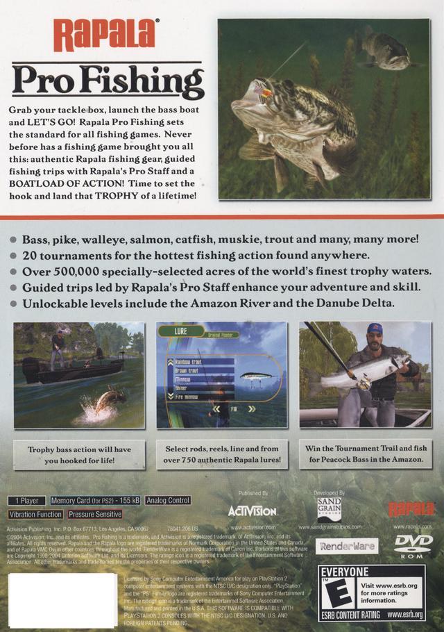 Rapala Pro Fishing Sony Playstation 2 Game