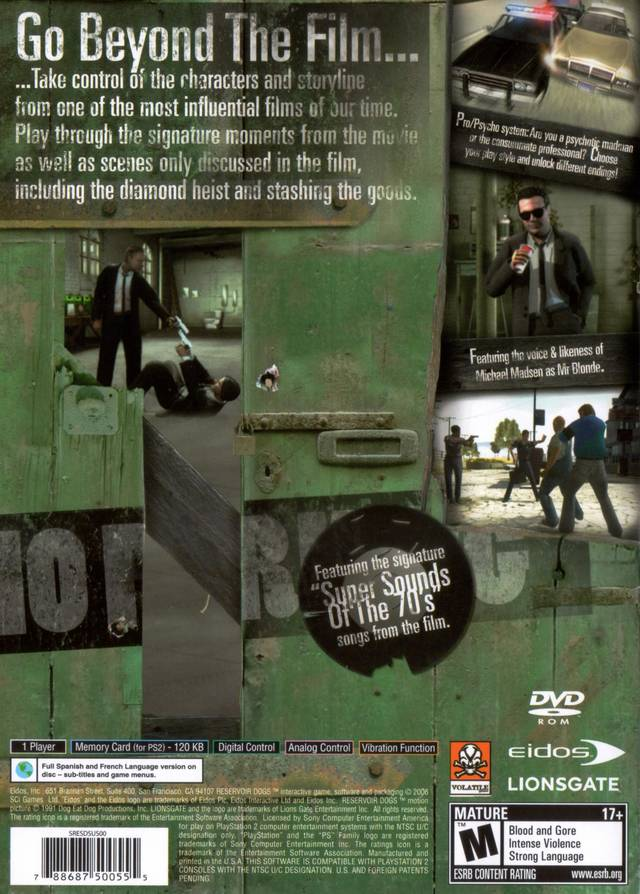 Reservoir Dogs Xbox For Sale