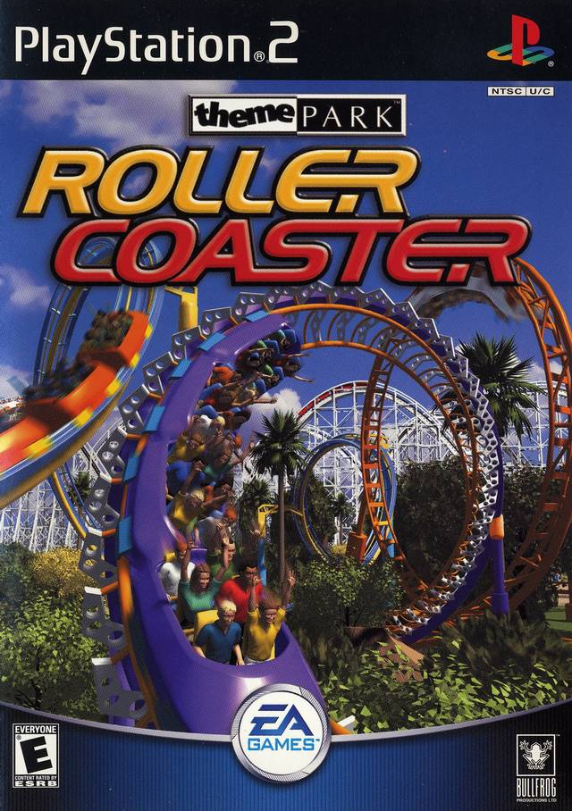Theme Park Roller Coaster Sony Playstation 2 Game