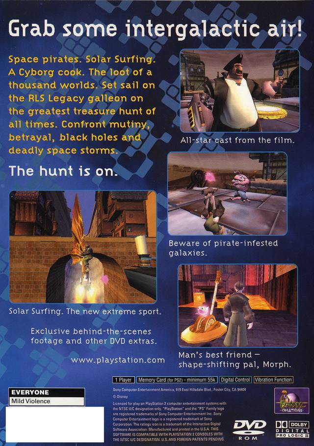 Treasure Planet Sony Playstation 2 Game