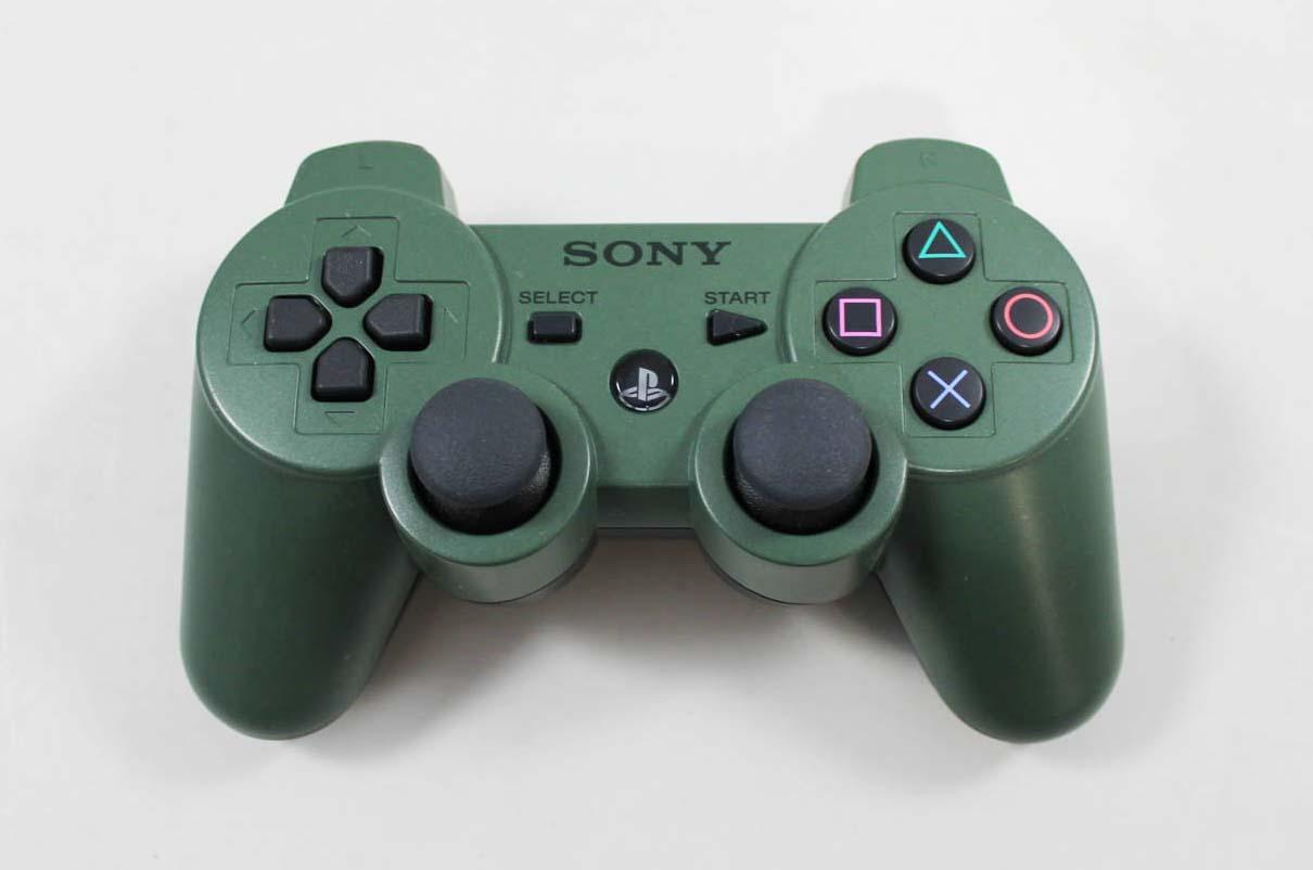 used playstation 3 dualshock 3 wireless controller jungle. Black Bedroom Furniture Sets. Home Design Ideas