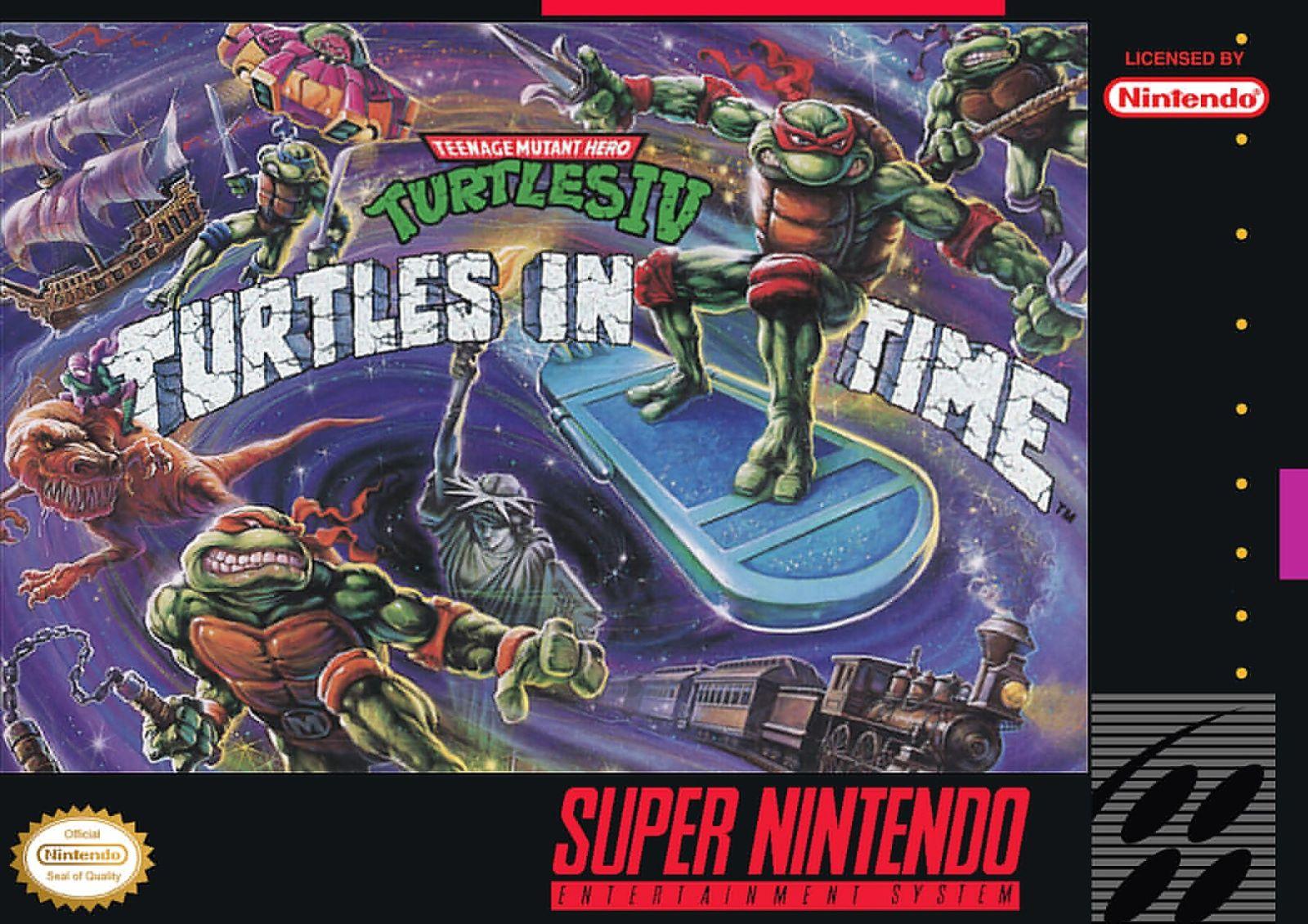 Teenage Mutant Ninja Turtles Iv Snes Super Nintendo