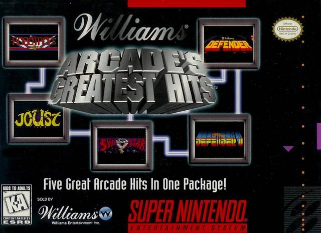 Williams Arcade S Greatest Hits Snes Super Nintendo