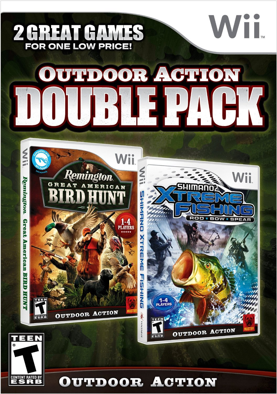 Remington great american bird hunt and shimano xtreme for Xbox one hunting and fishing games