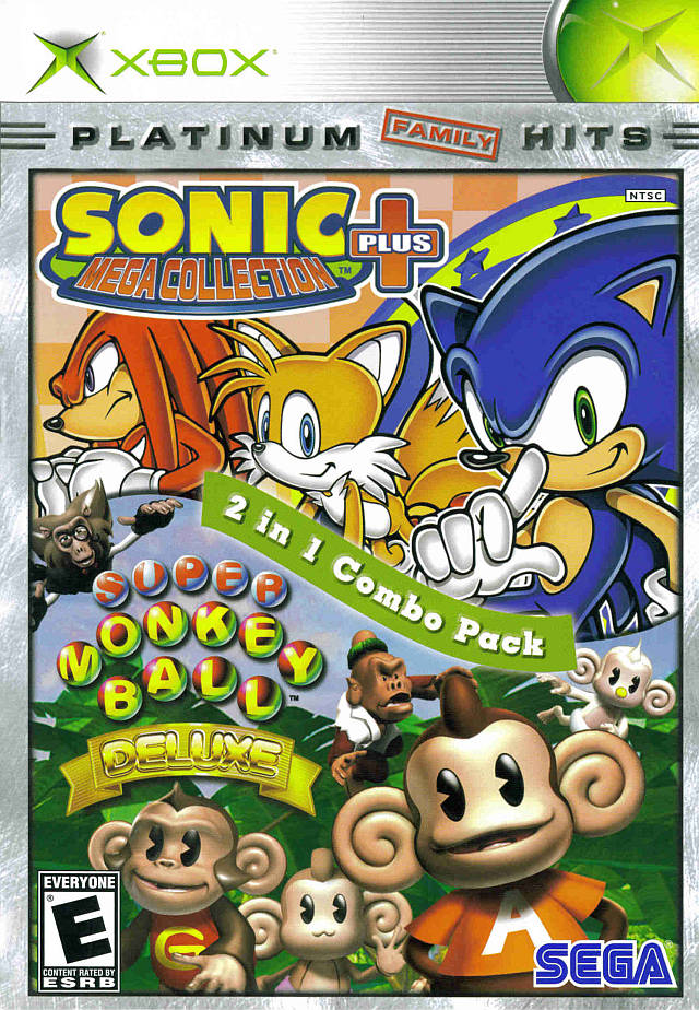 Sonic Mega Collection Plus and Super Monkey Ball Deluxe Xbox