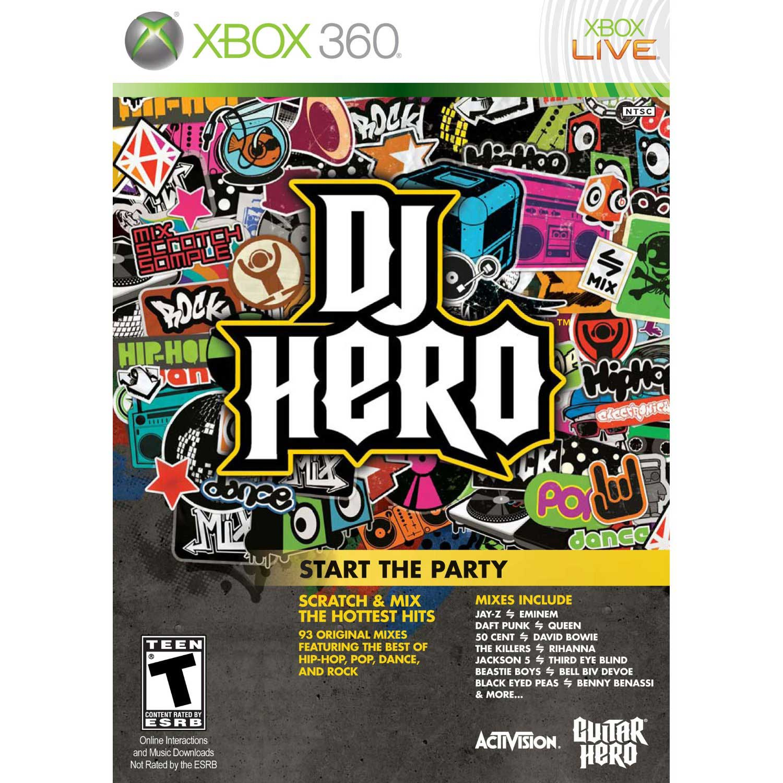 Xbox 360 Superhero Games : Dj hero xbox game