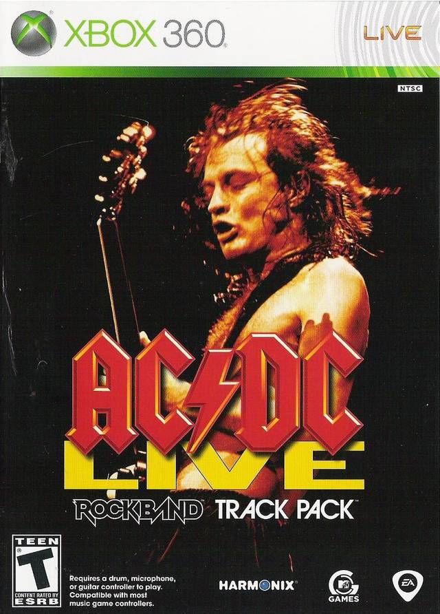Ac Dc Live Rock Band Track Pack Xbox 360 Game