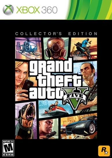 grand theft auto v collector 39 s edition xbox 360 game. Black Bedroom Furniture Sets. Home Design Ideas