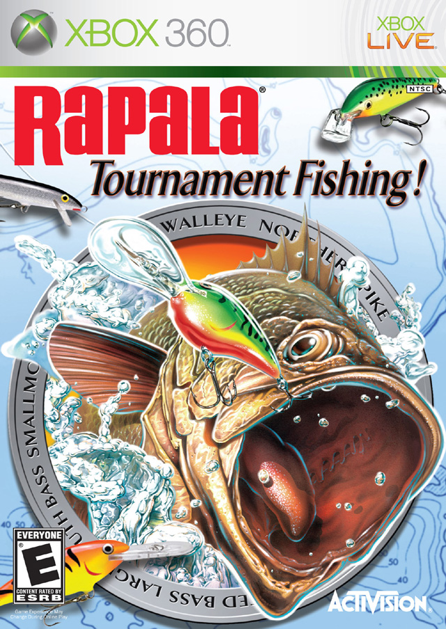 rapala tournament fishing xbox 360 game
