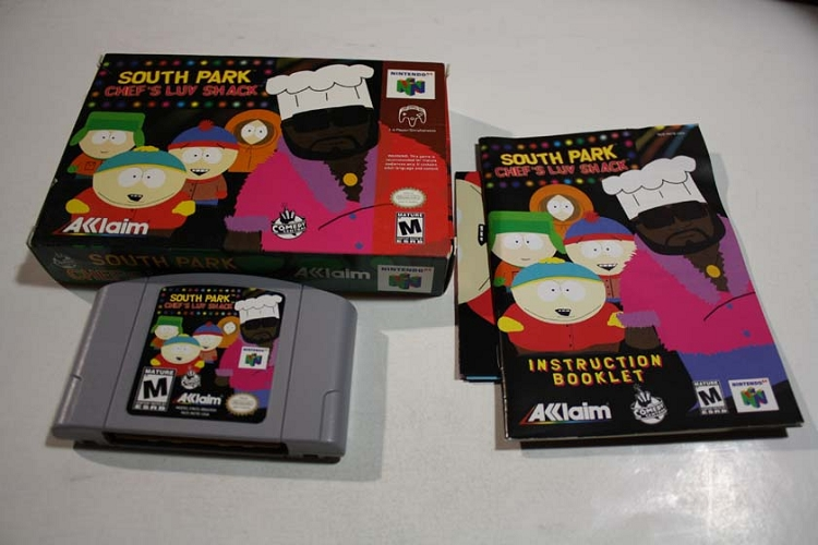 South Park Chef's Luv Shack- N64 Complete Game! Complete w/ Box, Game