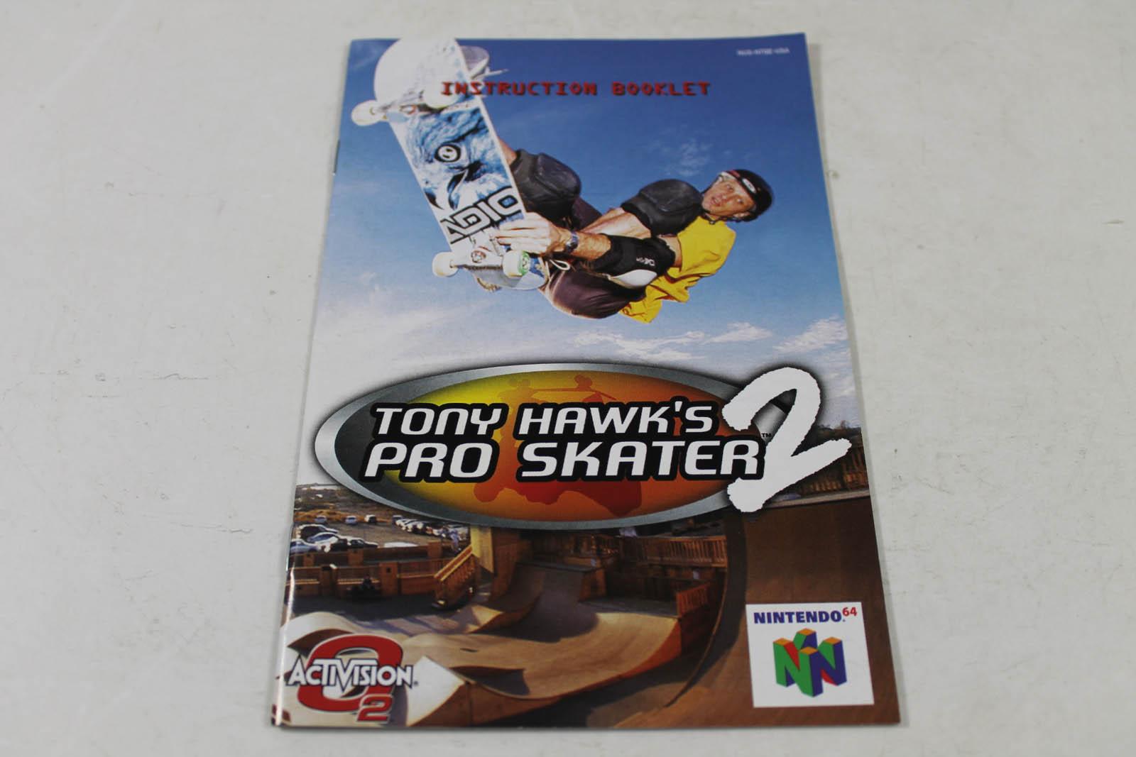 Manual - Tony Hawk's Pro Skater 2 - Nintendo N64