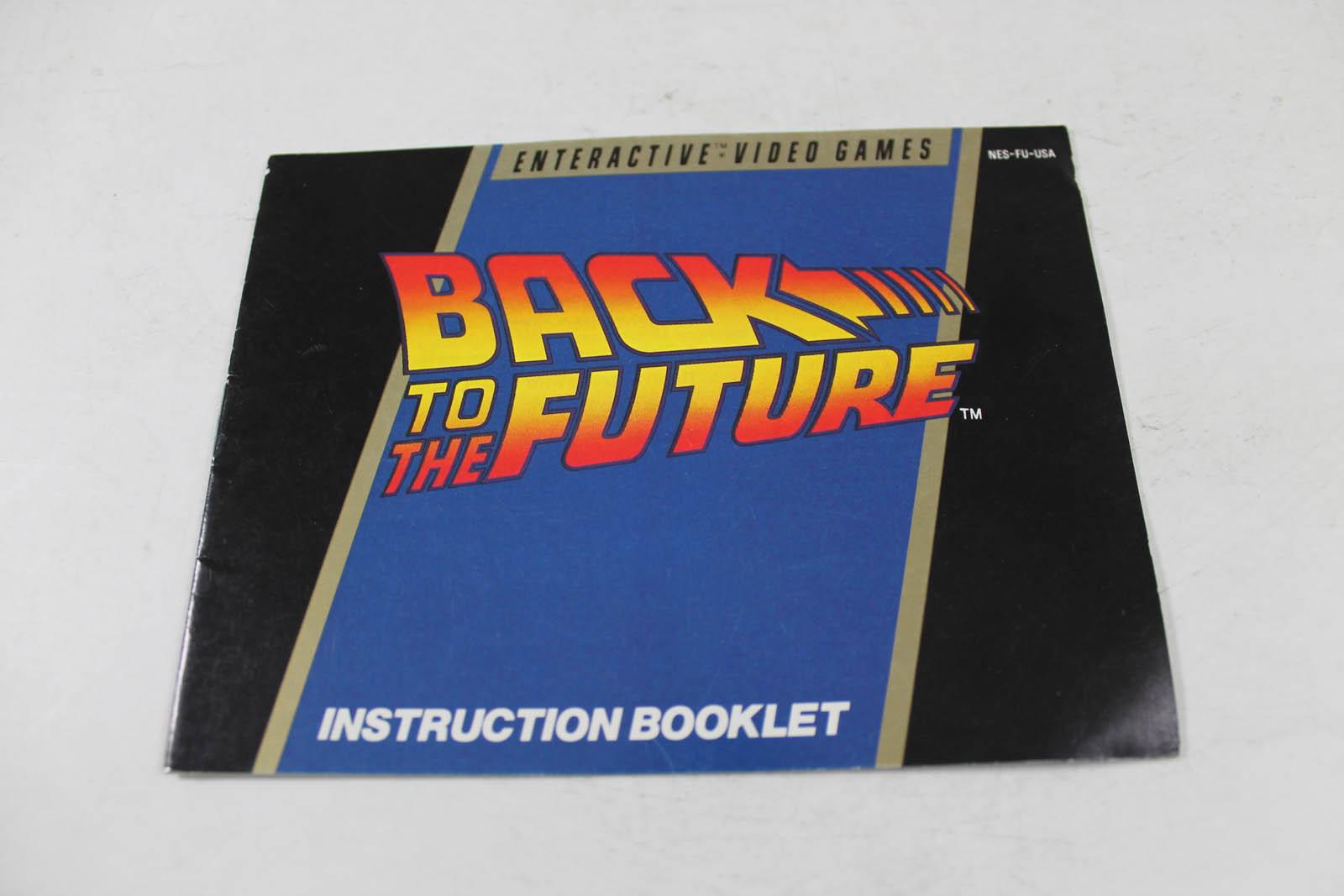 Manual back to the future nes nintendo