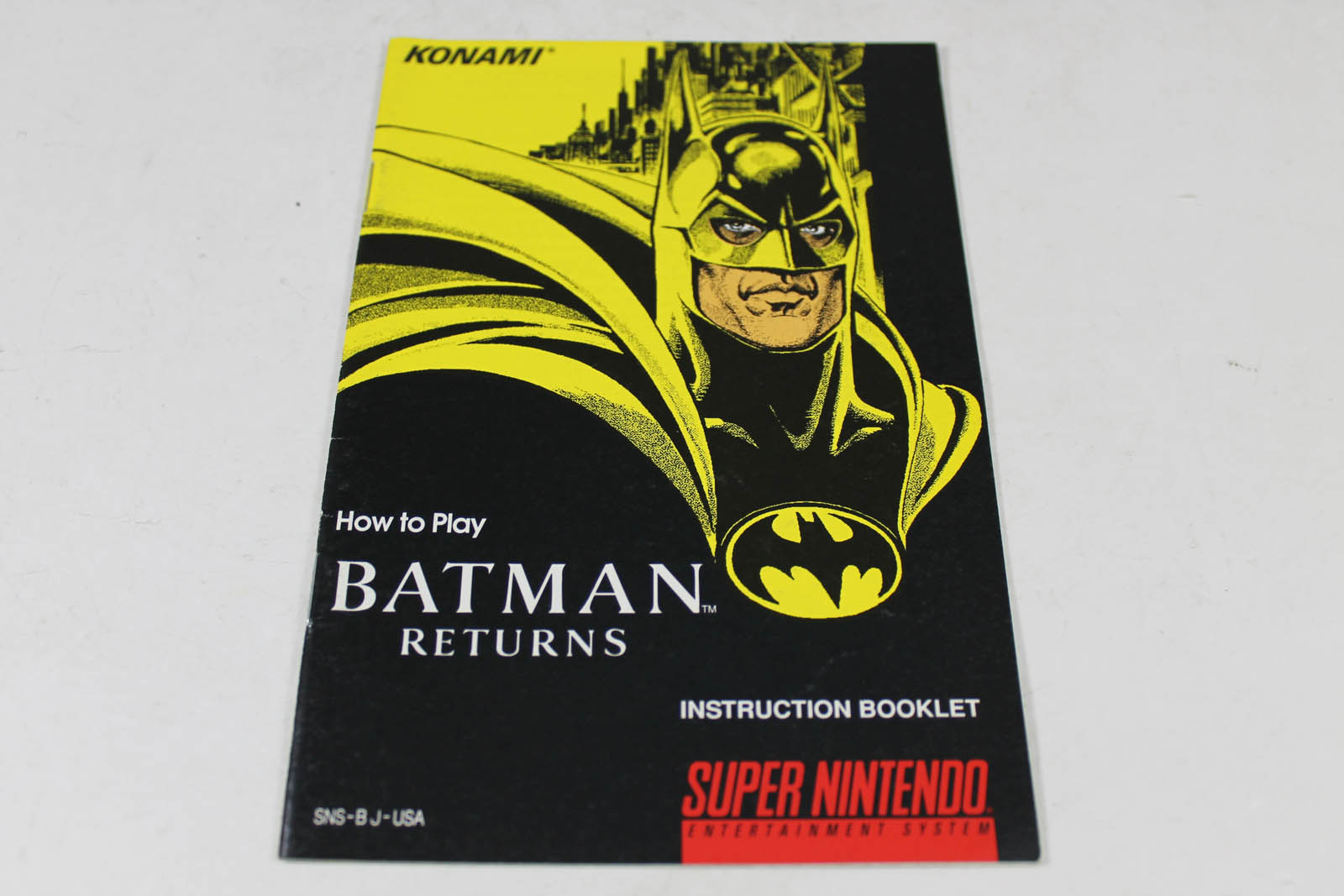 Manual - Batman Returns - Fun Snes Super Nintendo