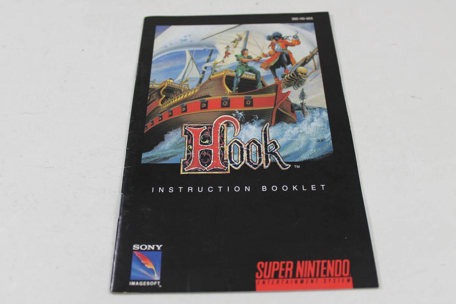 Manual - Hook - Snes Super Nintendo