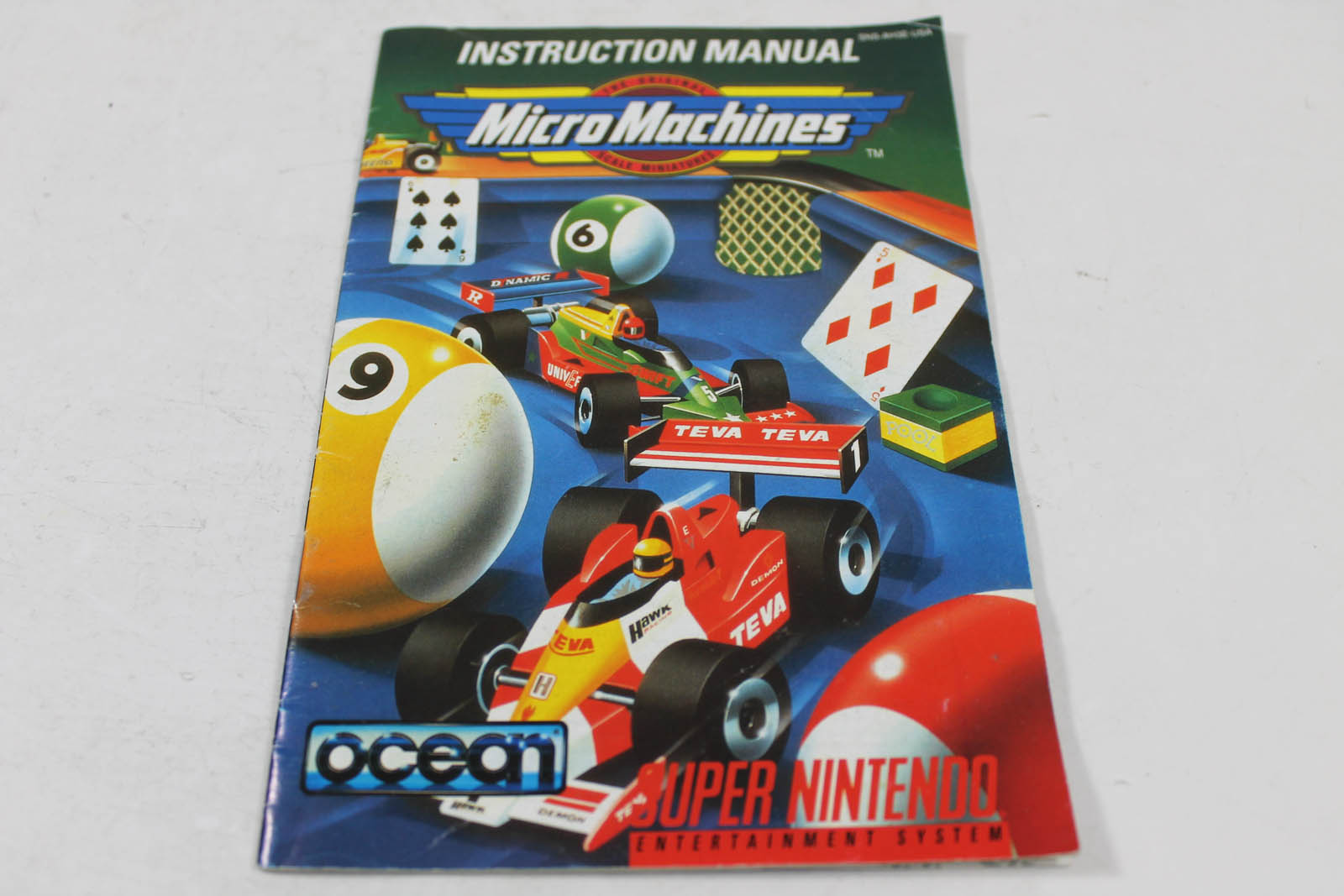 Manual - Micro Machines - Rare Snes Super Nintendo