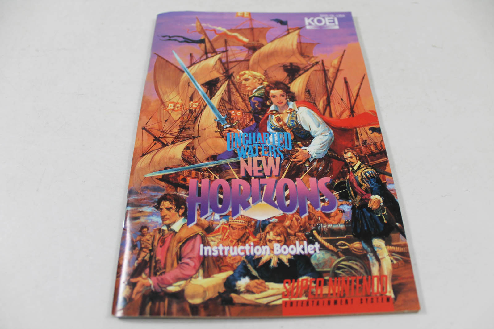 Manual - Uncharted Waters New Horizons Snes Super Nintendo