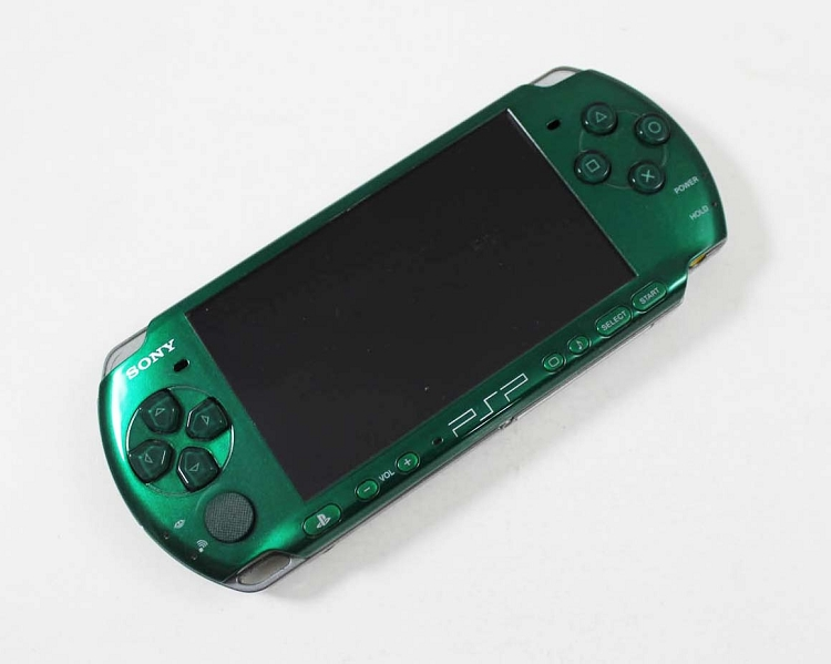 sony psp3000 green system discounted