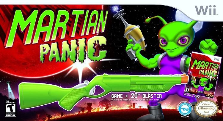 Martian Panic Game Amp Gun Bundle Nintendo Wii Game