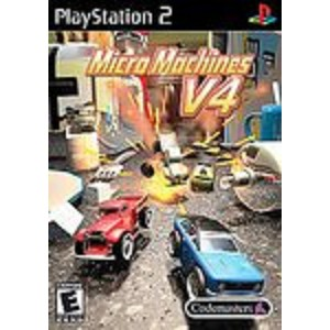 micro machines v4 sony playstation 2 game. Black Bedroom Furniture Sets. Home Design Ideas