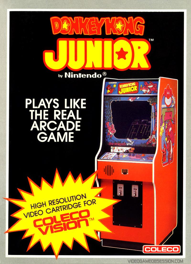 Donkey Kong Jr Colecovision Game