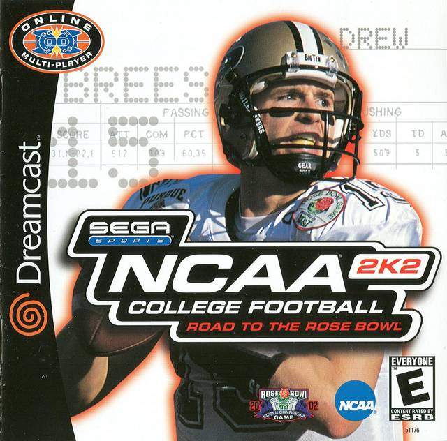 ncaa college football 2k2 dreamcast game