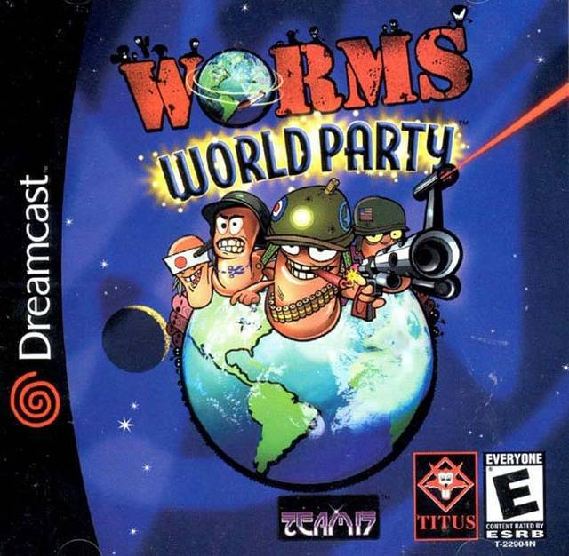 Worms World Party Dreamcast Game