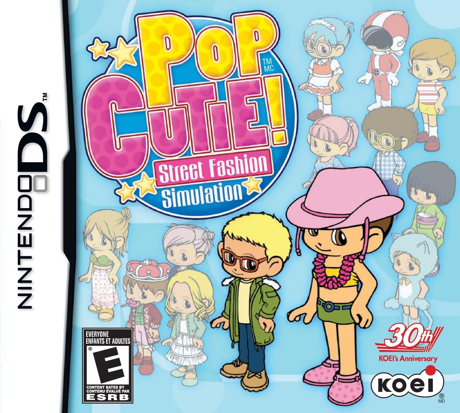 Pop Cutie Street Fashion Simulation Ds Game