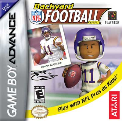 backyard football 2006 nintendo game boy advance gba