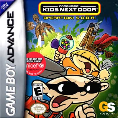 Codename Kids Next Door Operation Soda Nintendo Game Boy