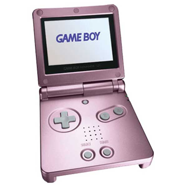 pearl pink game boy advance sp system used
