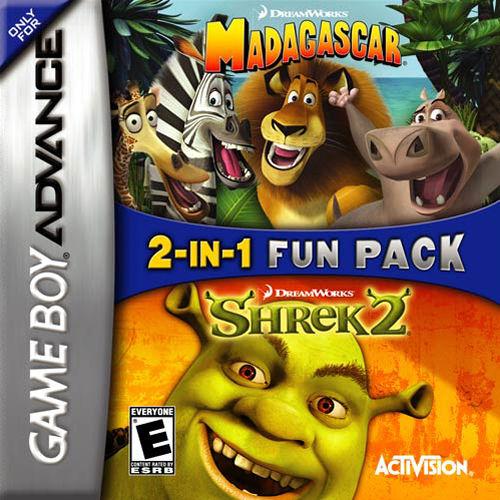 Madagascar And Shrek 2 Nintendo Game Boy Advance Game